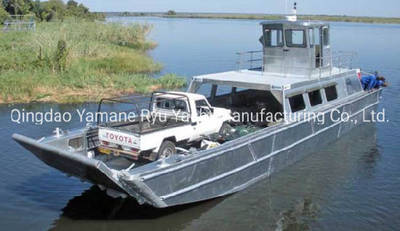 36FT Self-Draining Alloy Landing Craft with Top Deck Fly Bridge