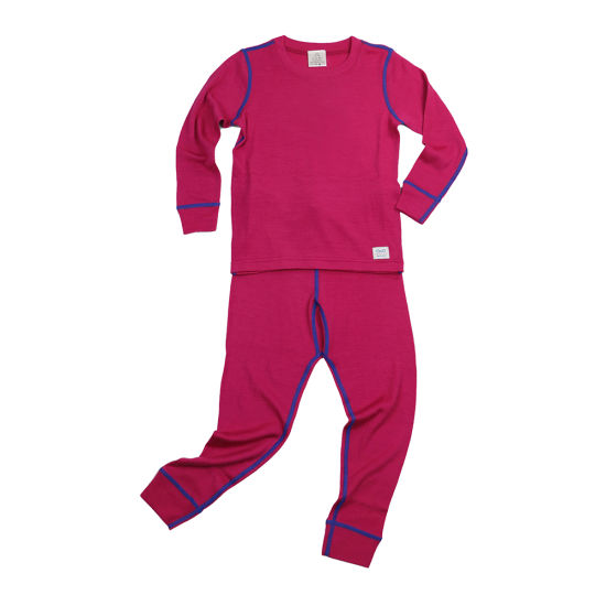 100% Merino Wool Children′s Red Thermal Underwear for Winter
