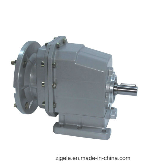 High Efficiency Aluminium Housing Foot Mounted RC Helical Gearbox