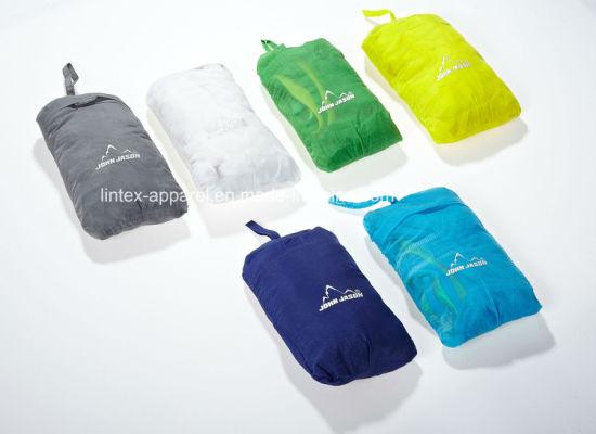 Hot Sale Outerwear TPU Waterproof Foldable Windbreaker Rain Jacket