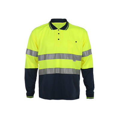 Whosesale Long Sleeve Safety Polo T-Shirts