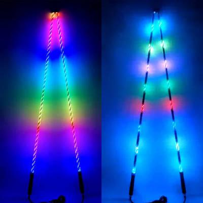 Custom Size APP Bluetooth Control Intelligent Light All Terrain Vehicle RGB Ai Tube LED New Whips Li