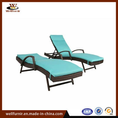 Tempat Tidur Berbaring Daybed Folding Indoor Outdoor Rattan Lounger Bed (WF-300-2)