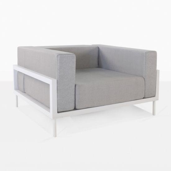 Garden White Powder Coated Aluminum Single Sofa