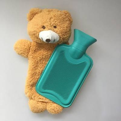 Plush Bear Cover for Hot Water Bottle and Heat Bag