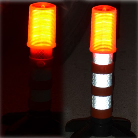 Safety Strobe Light Signal Alert Magnetic Base and Upright Stand