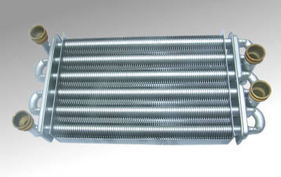Monothermic Double Tunnel Gas Boiler Parts Heat Exchanger