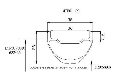 [P29c3525] High Quality Carbon 29inch Clincher Mountain Bike Rims 35mm Width 25mm Depth