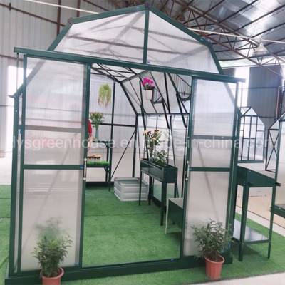 2019 New Design Multi Span 10mm Polycarbonate Sheet Barn Style Greenhouse (RDGU-PLUS4H-10mm)
