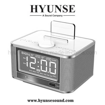 Bluetooth Alarm Clock Wireless LCD Time Display USB Charger Speaker