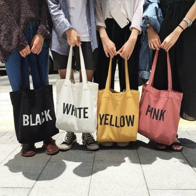 Custom Wholesale Lady Handbags Gift Tote Shopping Canvas Cotton Bag