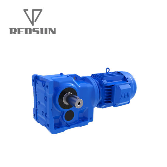 K Series Helical Bevel Solid Shaft Gear Boxes for Conveyor Line