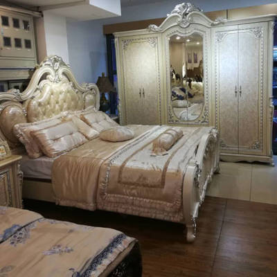 Double Bed for Classical Bedroom Furniture Set (3015B ...