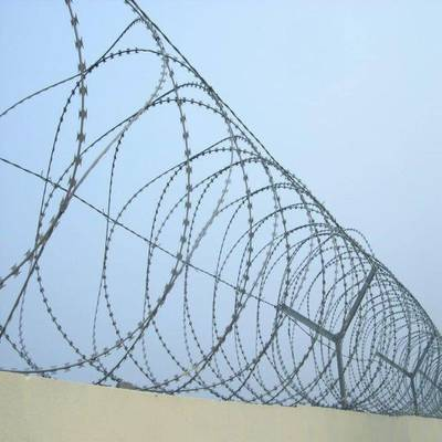 High Protection Concertina Razor Barbed Steel Wire