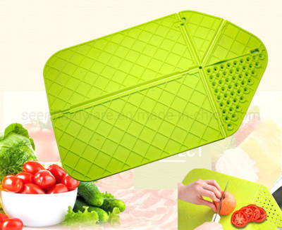 Portable Foldable Vegetable Board Plastic PP Multifunctional Vegetable Cutting Board (SE0336)