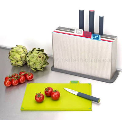4PCS New Desigin Multifunction Kitchen Cutting Board with 3PCS Knife Set (SE2323) pictures & photos