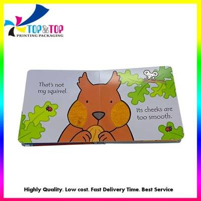 Children Hardcover Cardboard Board Animal Story Book Printing on Demand