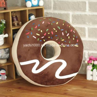 Stuffed Round Shaped Doughnut Pillow