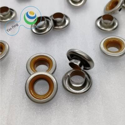 12mm Double Colors Composite Construction Brass Eyelet Garment Accessories