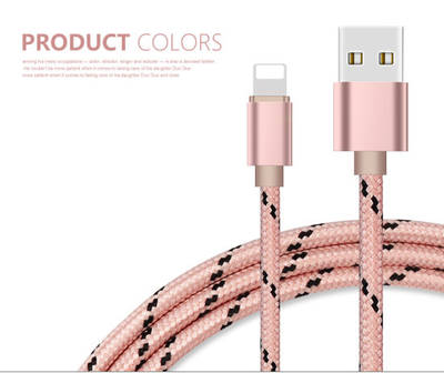 Compact Nylon-Knitted USB-C to USB 2.1A Fast Charge & Data Cable