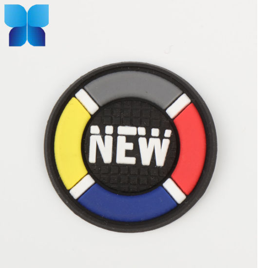 Hot Sell 2D/3D Multicolor Silicone Badge Patch Rubber Label for Belt/Clothing