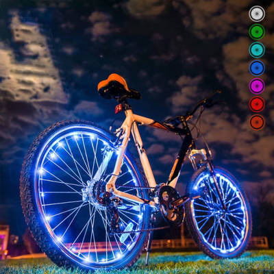 20 LED Bicycle Cycling Rim Lights LED Wheel Spoke Light String Strip Lamp T HOT