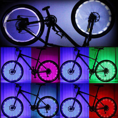Waterproof Colorful 20 LED Bicycle Lights Bike Lamp Cycling Wheel Spoke Light SU