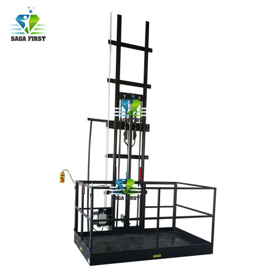 Workshop Used Single Guard Cargo Goods Elevator Lift