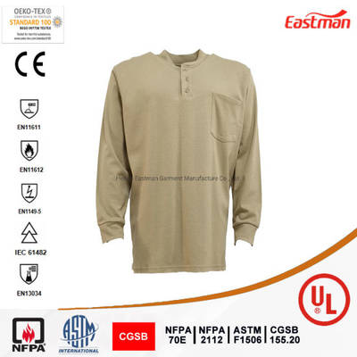UL Nfpa 2112 Flame Retardant Henley Shirt