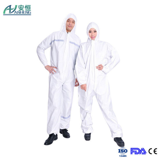 China Sf Coverall White Color Coverall Microporous Coverall