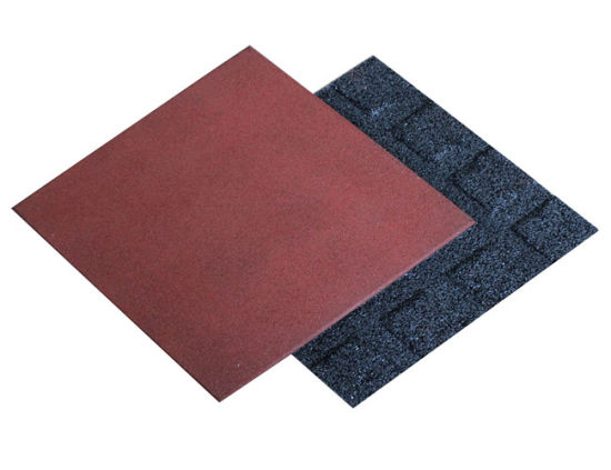 China Wearing-Resistant Rubber Tile Playground Rubber Tiles Outdoor Rubber Flooring