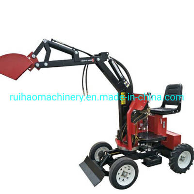 China Mini Wheeled Loader Small Tractor Mini Excavator