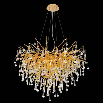 China Aluminum Metal Glass Crystal Chandelier Nordic Style Shop Chandelier Raindrop Glass Chandelier