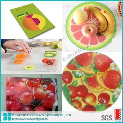 China Glass Board Cutting Board Kitchen Glass Board