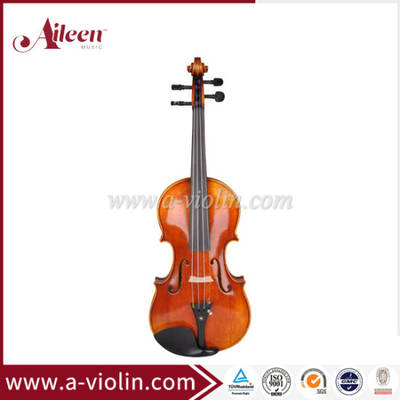 China Advanced Violin Middle Grade Violin Flamed Maple Violin