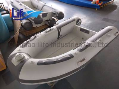 China Ilife 2 7 M Hypalon PVC Tube Military Rigid Inflatalbe Aluminum Hull  Rib Fishing Rescue Boat f