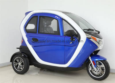 China Closed Motorcycle Full Closed Electric Tricycle Auto Rickshaw