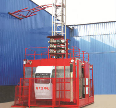 China Hoist Construction Double Cage