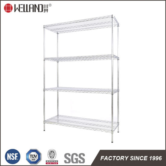 China 4 Tiers NSF Industrial Cold Room  Kitchen Storage Stainless Steel Wire Shelving Rack China Wir
