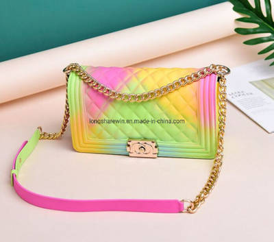 China Rainbow Handbag Single Shoulder Bag Women Bag