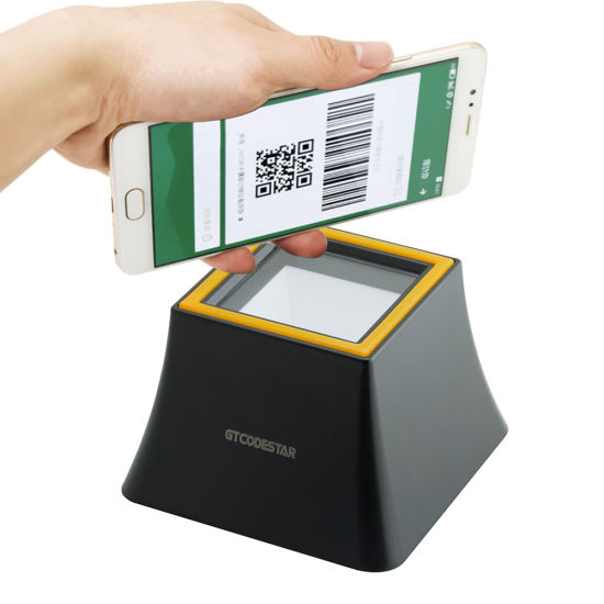 China 2D Desktop Mobile Payment Bar Code Scanner E-Payment