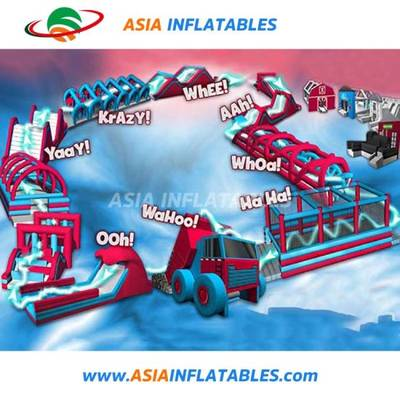 China 5K Inflatable Obstacle Course Insane Inflatable Obstacle Course Insane Inflatable Obstacle Cou