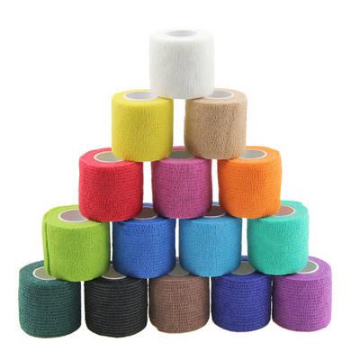 China Cohesive Bandage For Veterinary Sports Wrap Cohesive Elastic Bandages Sports Adhesive Tape Bandage From China