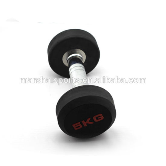 China Round Head Dumbbell Rubber Coated Dumbbell Dumbbell Round