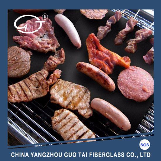 China PTFE Silicone Grill Mat PTFE Non-Stick Grill Mat PTFE BBQ Grill Mat
