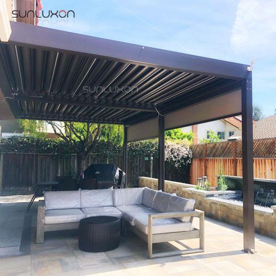 China Adjustable Opening Roof Gazebo Outdoor Sunshade Aluminum