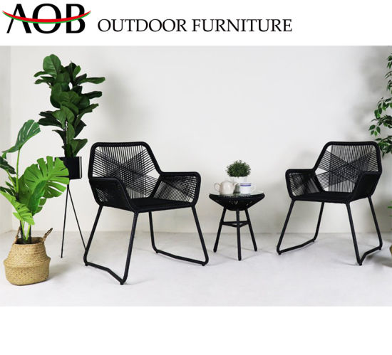 China Chinese Modern Outdoor Graden Patio Hotel Villa Cafe Balcony Chair Rattan Wicker Furniture Chi
