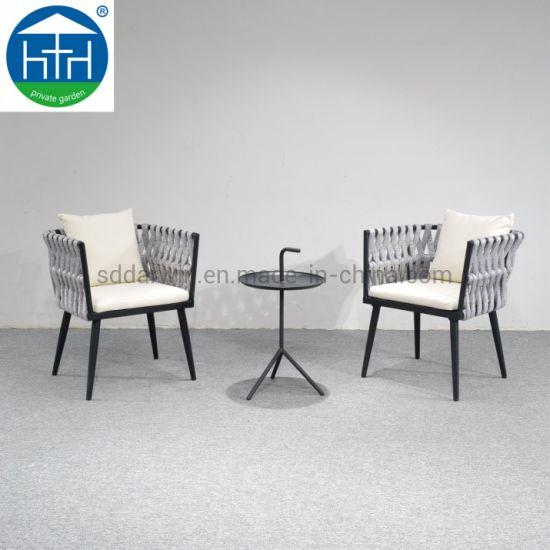 China Outdoor Rope Furniture Rattan Wicker Furniture Patio Coffee Set