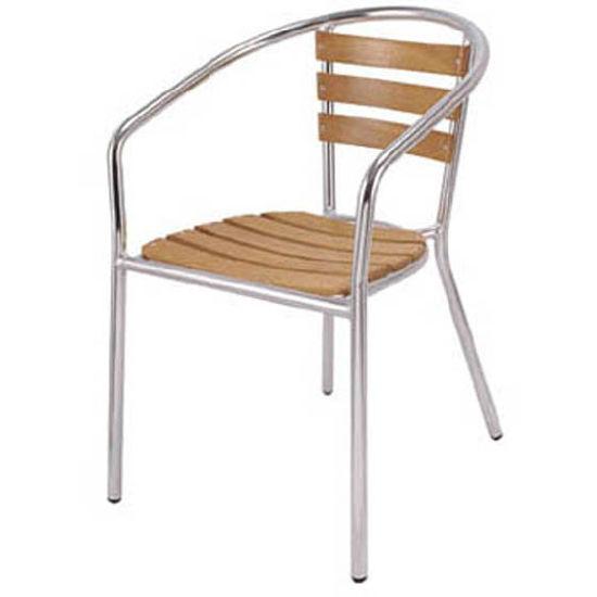 China Aluminum Chair Willow Slats Chair Patio Chair