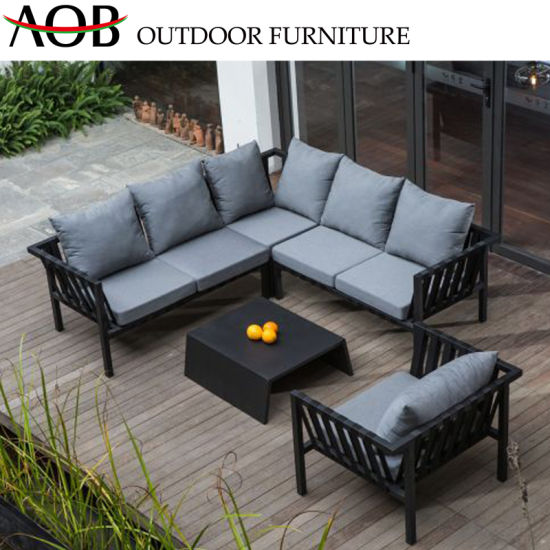 China Modern All Weather Outdoor Garden Home Deck Balcony Apartment Hotel  Leisure Lounge Rope Sofa F